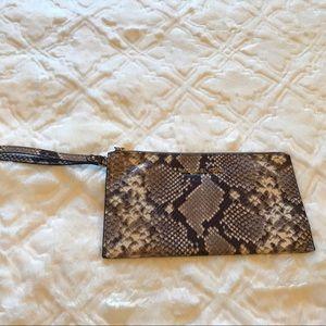 Snake skin Jet Set Michael Kors wristlet